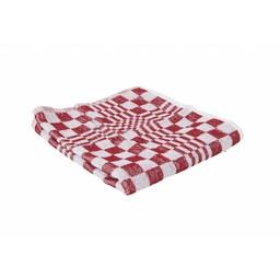 Brite-in Professionele Handdoek Geblokt, 50x50cm (Rood/Wit)