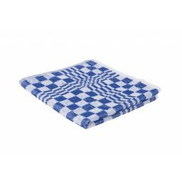 Brite-in Professionele Handdoek Geblokt, 50x50cm (Blauw/Wit)