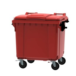 Vepabins Afvalcontainer / Rolcontainer, 1100ltr (Rood)