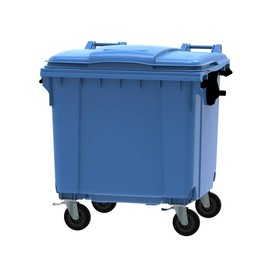 Vepabins Afvalcontainer / Rolcontainer, 1100ltr  (Blauw)