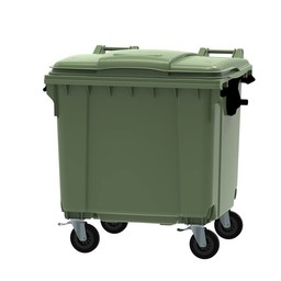 Vepabins Afvalcontainer / Rolcontainer, 1100ltr (Groen)