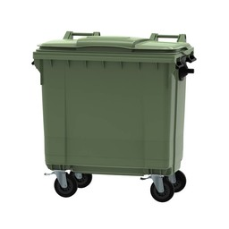 Vepabins Afvalcontainer / Rolcontainer, 770ltr (Groen)