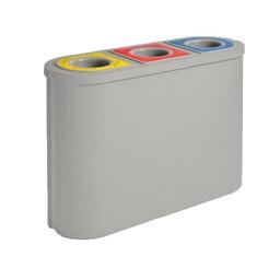 Vepabins Kunststof Afvalscheidingsunit TRIOMF, 3x 45L (Grijs)
