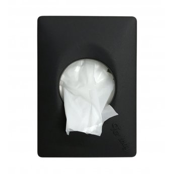 Quartz-Line Damesverbandzakjes Dispenser  t.b.v. Plastic zakjes (Zwart)