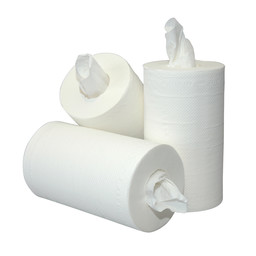 Cleanio Mini-Poetsrollen, 2-Laags Cellulose, 20cm x 60m (Kokerloos)