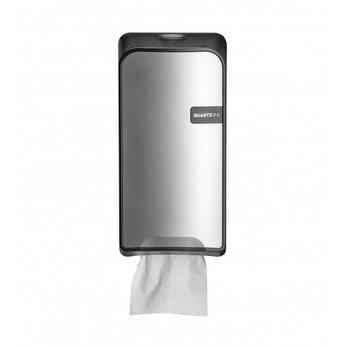 Quartz-Line Quartz-Line - Bulkpack Toiletvel Dispenser (Zilver / Zwart)