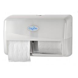 Pearl-Line Gebruikte Coreless Duo Toiletrol Dispenser (Pearl White)