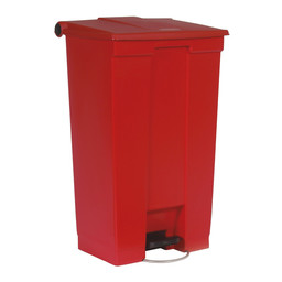 Rubbermaid Rubbermaid - Step-On Classic HACCP Afvalbak, 87L (Rood)