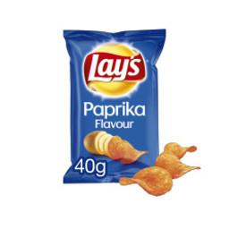 - Lays - Paprika Chips, zakje á 40 gram (Doos á 20 stuks)