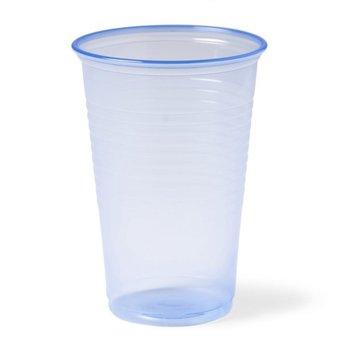 Blauwe Plastic Drinkbeker, 200ml (Pak á 100 stuks)