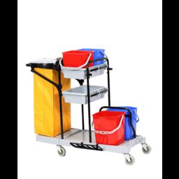 Brite-in Kunststof Werkwagen / Materiaalwagen, type Reiniging Extra