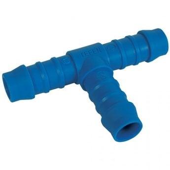 Brite-in Nylon Slangpilaar / T-adapter, 6mm (Blauw)