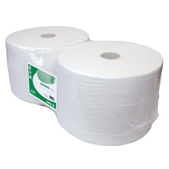 Euro Products Maxi-Poetsrollen, 1-Laags Recycled Wit, 23cm x 1000m
