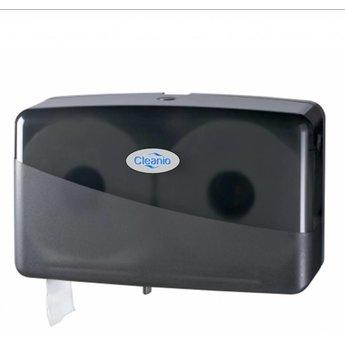 Cleanio Gebruikte Duo Jumbo-Mini Toiletrol Dispenser (Pearl Black)