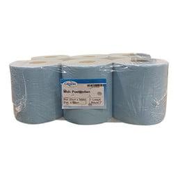Cleanio Midi-Poetsrollen, 1-Laags Recycled Blauw, 20cm x 300m