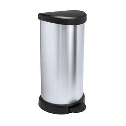 Curver Curver - Kunststof Pedaalemmer DECOBIN, 40L (Zwart / Zilver)
