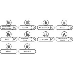 - Afvalbak Labelset / Afvalstroom Stickers (Set á 10 stuks)
