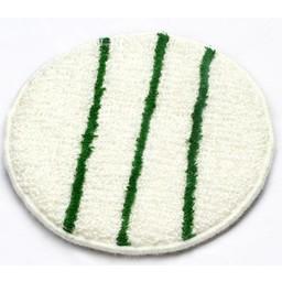 Brite-in Microvezel Bonnetpad (Wit / Groen) 17inch / 43cm