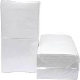 Brite-in Servetten 1/4, 1-laags Cellulose Wit (Pak á 500 stuks)