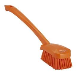 Vikan Vikan - Afwasborstel met Lange Steel, Harde vezels (Oranje)