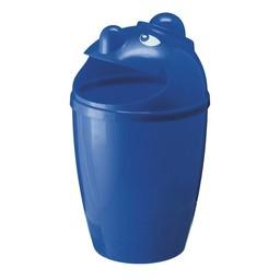 Vepabins Kunststof Afvalbak Met Gezicht, 75L (Blauw)