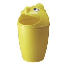 Vepabins Kunststof Afvalbak Met Gezicht, 75L (Geel)