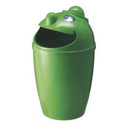 Vepabins Kunststof Afvalbak Met Gezicht, 75L (Groen)