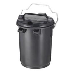 Vepabins Kunststof Afvalbak met Deksel, 35L (Grijs)