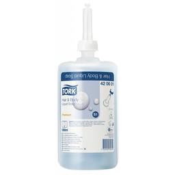 Tork Tork -S1 Hair en Body Vloeibare Zeep Premium (Doos 6x1000ml)