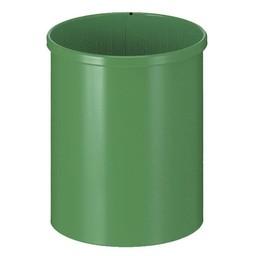 Vepabins Ronde Metalen Papierbak, 15L (Groen)