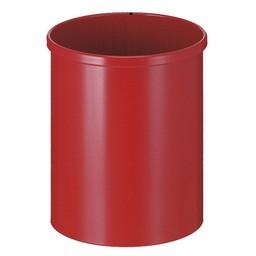 Vepabins Ronde Metalen Papierbak, 15L (Rood)