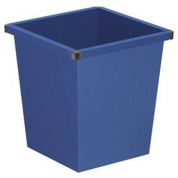 Vepabins Vierkant Tapse Metalen Papierbak, 27ltr (Blauw)
