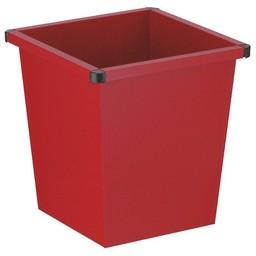 Vepabins Vierkant Tapse Metalen Papierbak, 27ltr (Rood)
