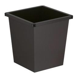 Vepabins Vierkant Tapse Metalen Papierbak, 27ltr (Zwart)