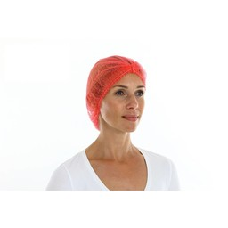 CMT Baret/Haarnetje PP Non-Woven, Rood (ClipCap)