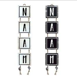 Mbs Design Naamladder zwart/wit
