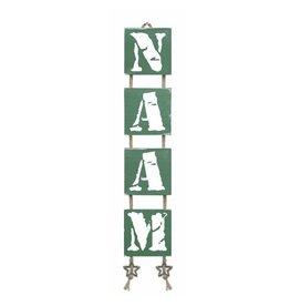 Mbs Design Naamladder legergroen