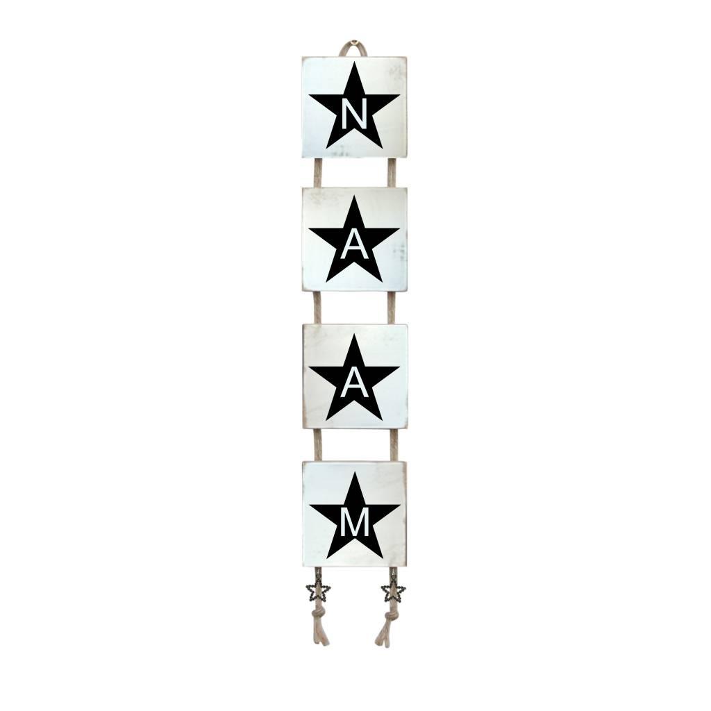 Naamladder wit met ster