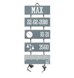 Mbs Design Geboorteladder Max Denim Drift Flexa