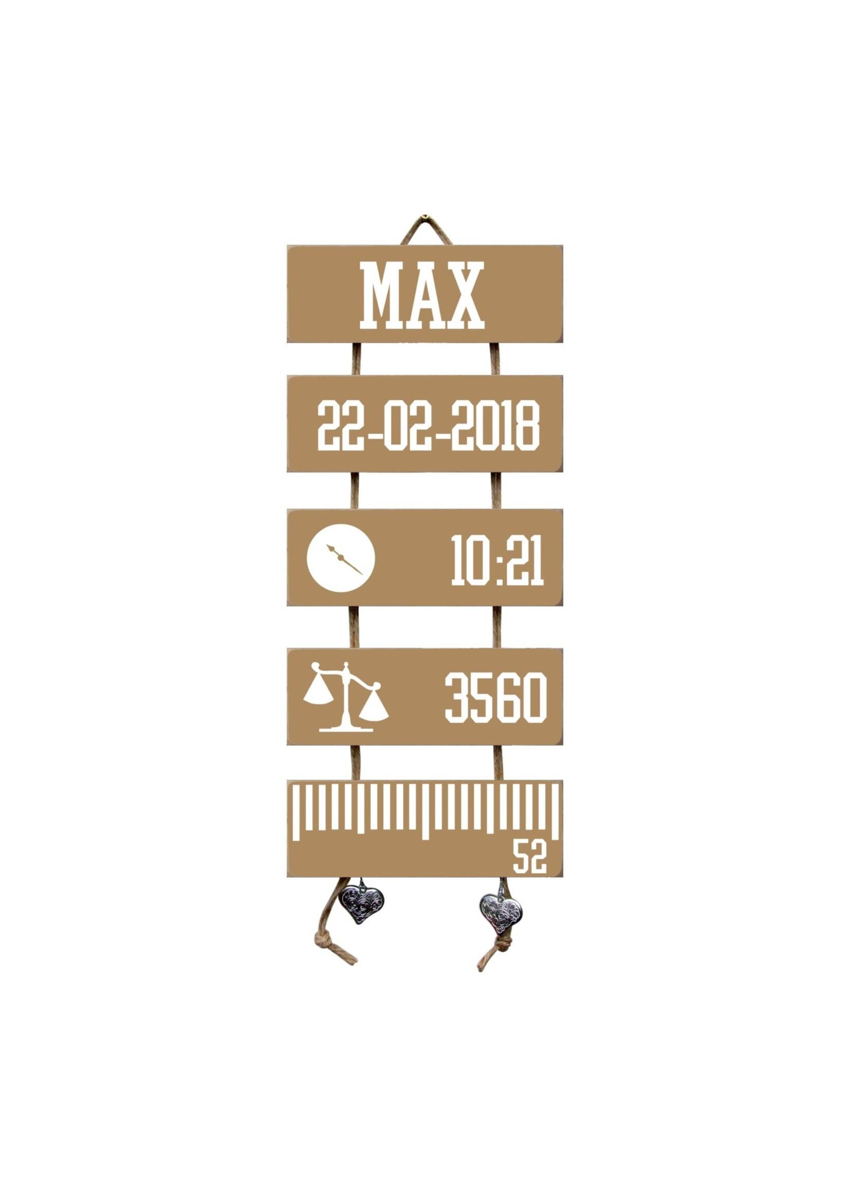 Kraamcadeau Geboorteladder Max Spiced Honey Flexa