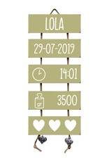 Kraamcadeau Geboorteladder Stijn Olive Tree Flexa