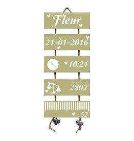 Geboorteladder Fleur Olive Tree Flexa