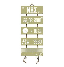 Geboorteladder Max Olive Tree Flexa