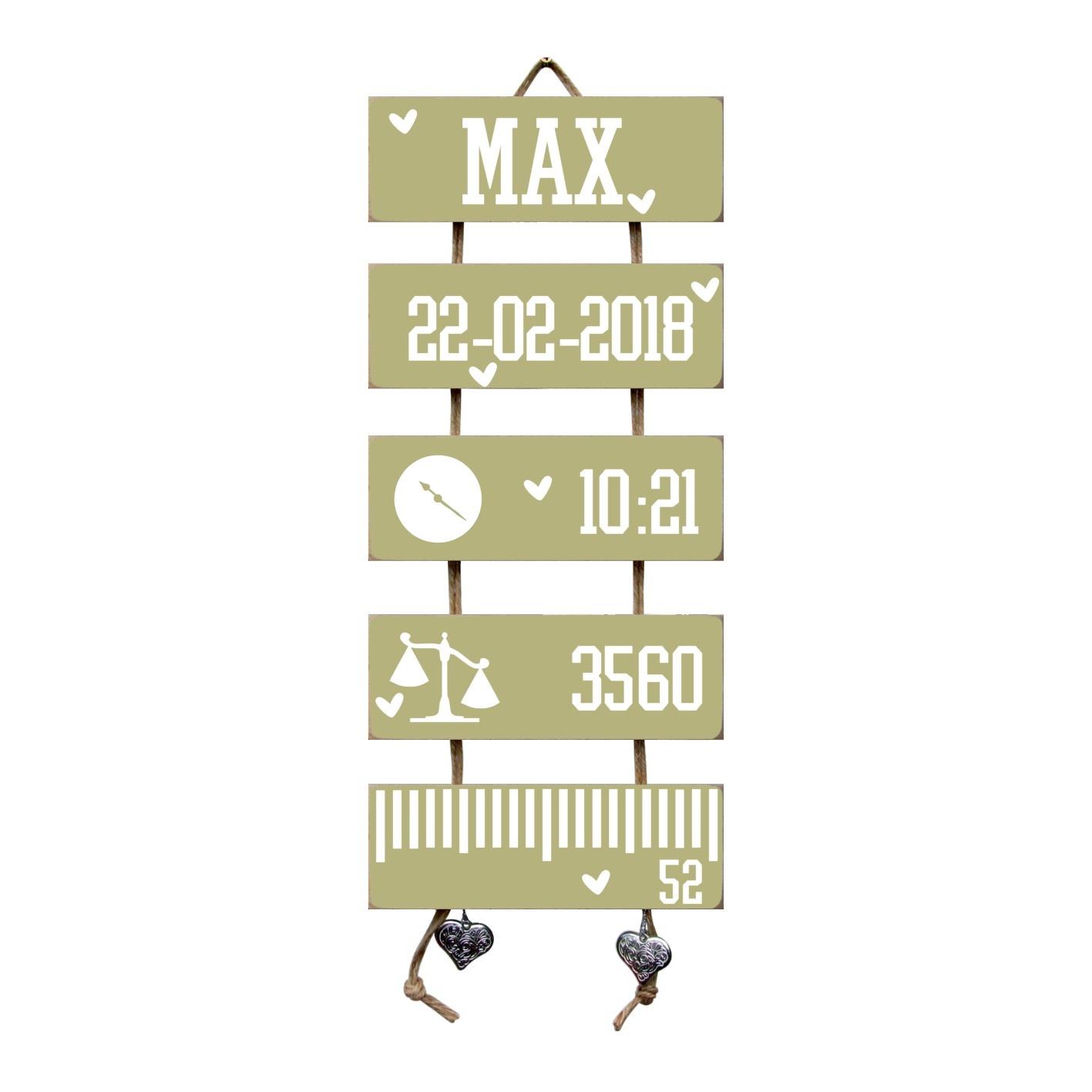 Kraamcadeau Geboorteladder Max Olive Tree Flexa