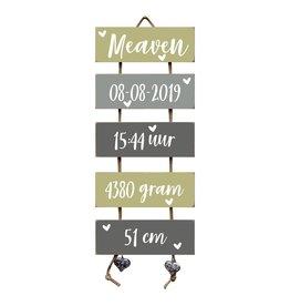 Geboorteladder Meaven Olive Tree/grijs