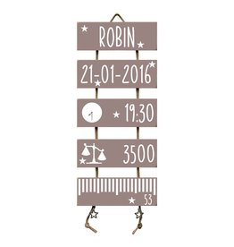 Geboorteladder Robin Heart Wood flexa