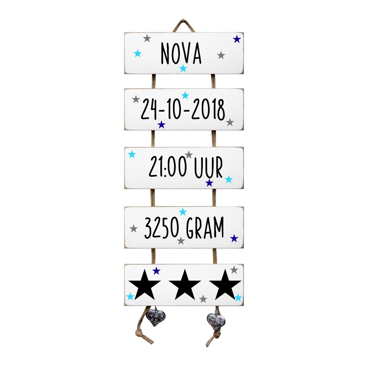 Kraamcadeau Geboorteladder Nova