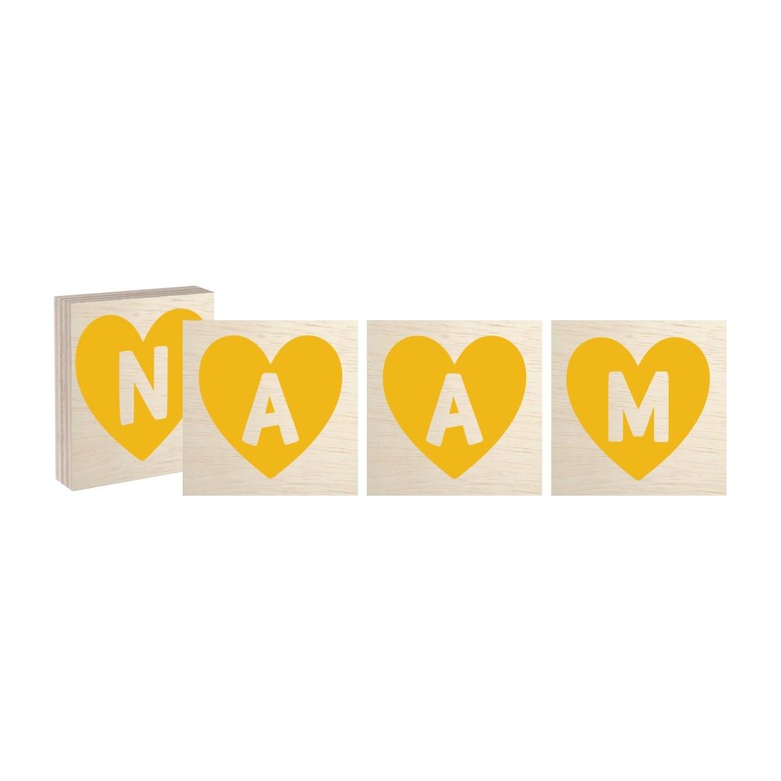 Naamblok Hart