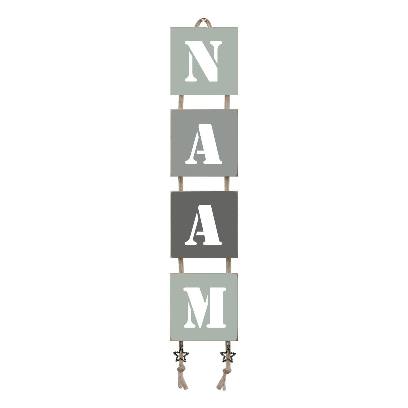 Naamladder early dew/ grijstinten  stencil
