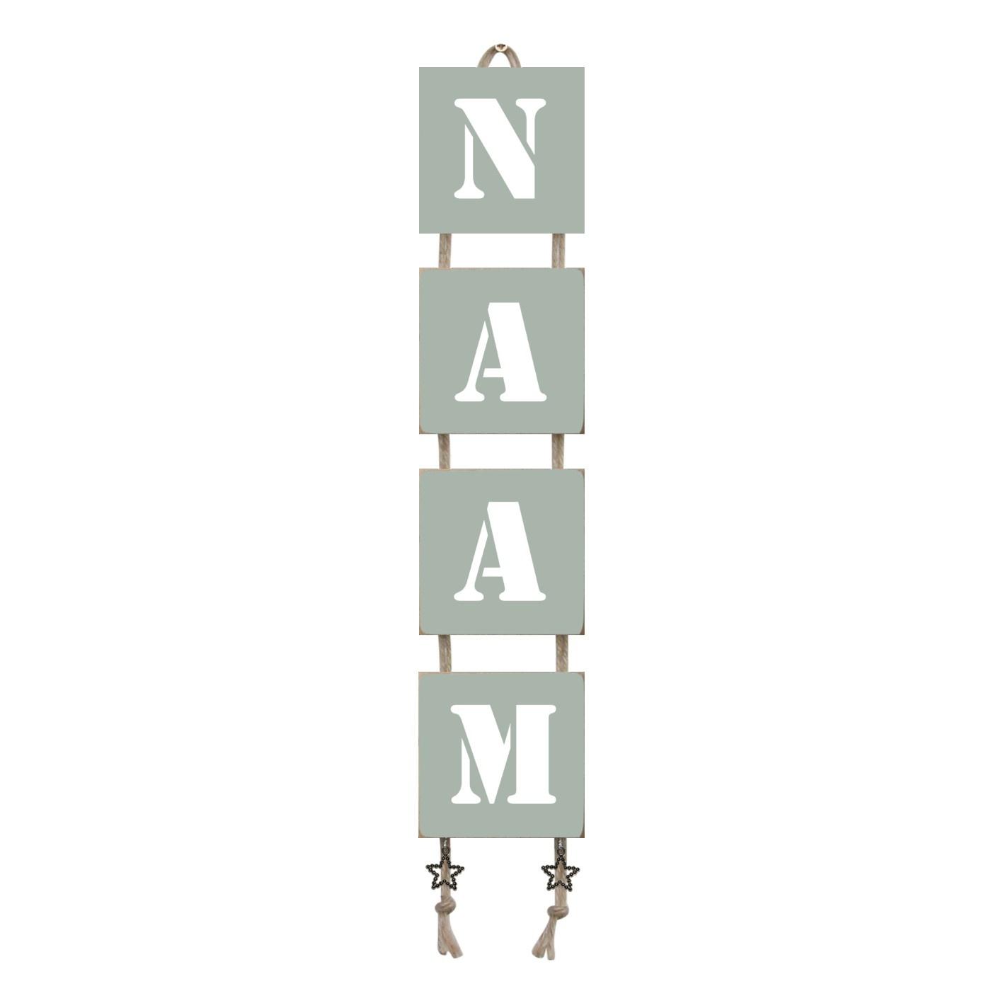 Naamladder early dew stencil